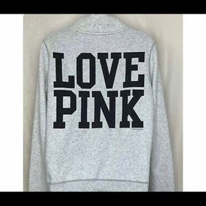 VS Love Pink Womens 1/2 Zip Pullover Sweatshirt 86